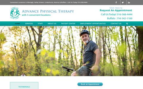 Screenshot of Home Page advance-pt.com - Home - Advance Physical Therapy - captured Nov. 6, 2018