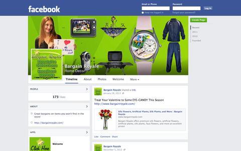 Screenshot of Facebook Page facebook.com - Bargain Royale   Facebook - captured Oct. 23, 2014