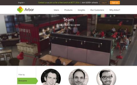 Screenshot of Team Page arbor-education.com - Arbor Education Partners - captured Feb. 6, 2016