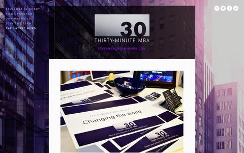 Screenshot of Press Page 30minmba.com - The latest news — Sticky summaries that you remember I 30minMBA.com - captured Nov. 5, 2014
