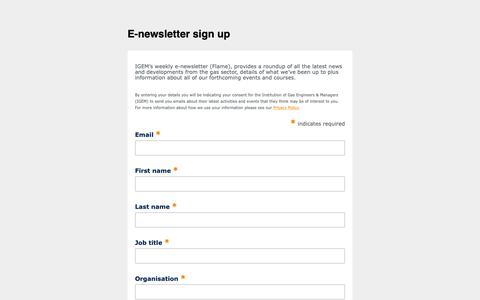 Screenshot of Signup Page list-manage.com - Email contacts MASTER - captured Dec. 8, 2018