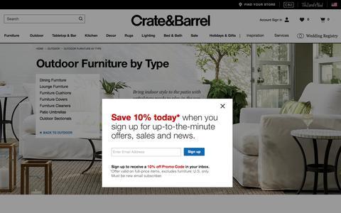 Outdoor Furniture: Teak, Wood, Metal, Resin   Crate and Barrel