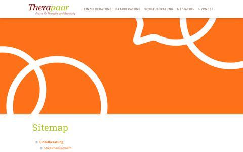 Screenshot of Site Map Page therapaar.de - Sitemap - Therapaar Böblingen | Sindelfingen - captured June 22, 2018
