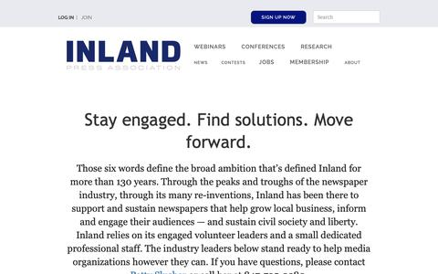 Screenshot of Signup Page inlandpress.org - Membership form | Inland Press Association - captured Oct. 12, 2018