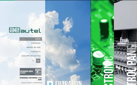 Screenshot of aeautel.it - Autel S.r.l. - captured June 19, 2015