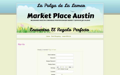 Screenshot of Signup Page marketplaceaustin.com - Signup - captured June 10, 2017