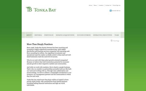 Screenshot of About Page tonkabayequity.com - About Tonka Bay Equity » tonkabayequity.com - captured Oct. 7, 2014