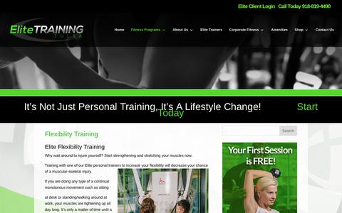 Elite Training Tulsa | Flexibility Training | Elite Training