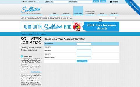 Screenshot of Signup Page sollatek.co.ke - Sollatek | Online Store | Registration - captured Oct. 7, 2014
