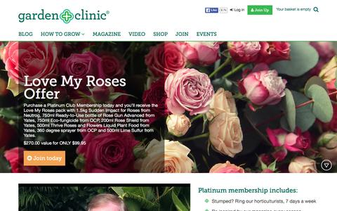 Screenshot of Signup Page gardenclinic.com.au - Join - captured March 1, 2016