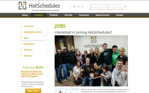 Screenshot of Jobs Page hotschedules.com - HotSchedules Jobs - captured Sept. 18, 2014