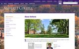 Old Screenshot Amherst College About Page