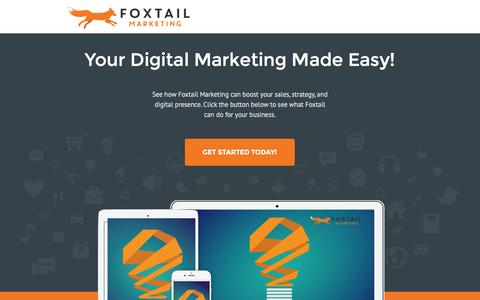 Screenshot of Landing Page foxtailmarketing.com captured Jan. 6, 2016