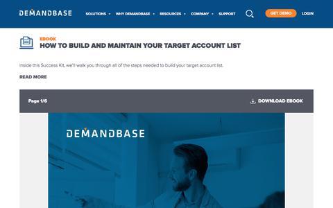 Screenshot of Case Studies Page demandbase.com - Target Account eBook: How to Build and Maintain Your Target Account List | Account-Based Marketing – Demandbase - captured Nov. 6, 2019