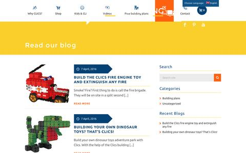 Screenshot of Blog clicstoys.com - ClicsToys blog   CLICS  creative building toy - captured July 14, 2016