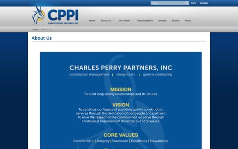 Screenshot of About Page cppi.com - Charles Perry Partners, Inc. | about - captured Oct. 1, 2014