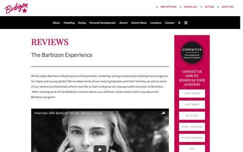 Screenshot of Developers Page barbizonmodeling.com - Barbizon Reviews | Modeling and Acting | Barbizon Modeling Grads - captured Nov. 10, 2016