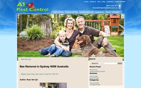 Screenshot of Blog a1pestcontrol.com.au - blog - a1pestcontrol - captured July 23, 2016