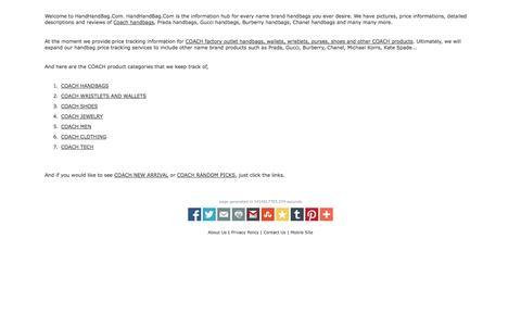 Screenshot of About Page handhandbag.com - About Us HandHandBag.Com - captured Nov. 2, 2014