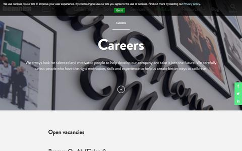 Screenshot of Jobs Page beamex.com - Careers - www.beamex.com - captured Oct. 10, 2017