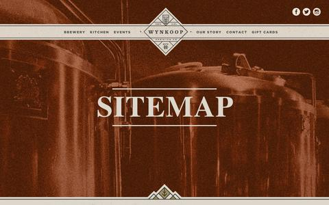 Screenshot of Site Map Page wynkoop.com - Sitemap | Wynkoop Brewing - captured Nov. 7, 2018