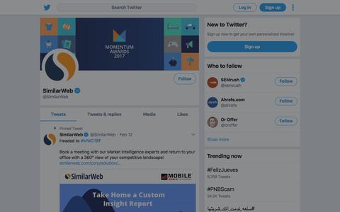 Tweets by SimilarWeb (@SimilarWeb) – Twitter