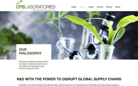 Screenshot of About Page epblaboratories.com - About EcoPlanet Bamboo Laboratories | CEO Troy Wiseman - captured May 12, 2017