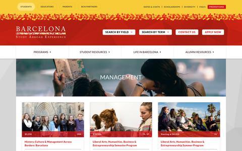 Screenshot of Team Page barcelonasae.com - Management | Barcelona SAE - captured Nov. 6, 2018