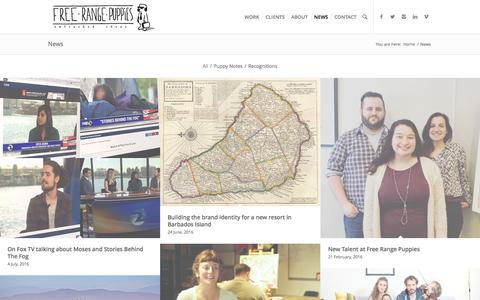 Screenshot of Press Page free-rangepuppies.com - Free Range Puppies |   News - captured Aug. 4, 2016