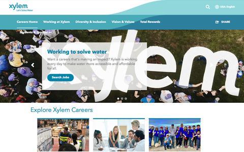 Screenshot of Jobs Page xylem.com - Careers | Xylem US - captured Sept. 14, 2019