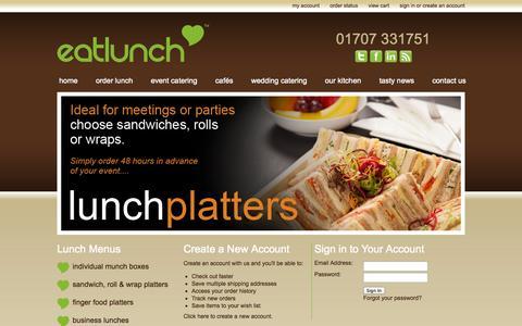 Screenshot of Login Page eatlunch.co.uk - Eatlunch - Sign in - captured Nov. 2, 2014