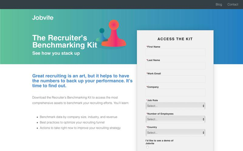 The Recruiter's Benchmarking Kit