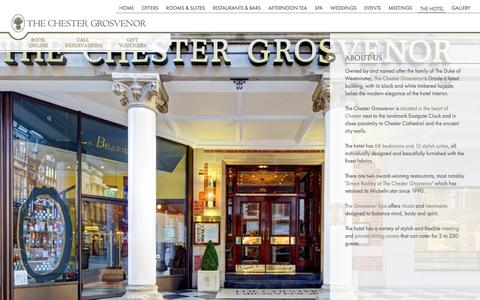 Screenshot of About Page chestergrosvenor.com - Luxury Hotel in Chester, Five Star Hotel Chester, The Chester Grosvenor Hotel and Spa - captured Oct. 7, 2014