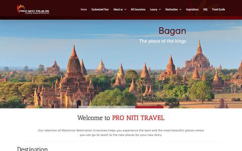 Screenshot of Home Page pronititravel.com - Pro Niti Travel - captured Nov. 12, 2016