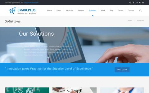Solutions - Exarcplus Mobile Apps Pvt Ltd.