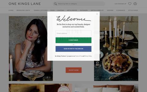 Screenshot of Login Page onekingslane.com - Furniture, Sofas, Rugs, Bedding, Home Decor | One Kings Lane - captured Dec. 30, 2015