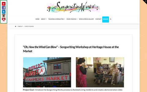 Screenshot of Case Studies Page songwritingworks.org - Case Studies | Songwriting Works - captured Feb. 18, 2016