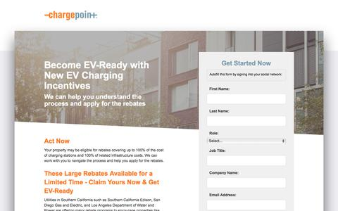 Screenshot of Landing Page chargepoint.com - ChargePoint - captured Sept. 19, 2018