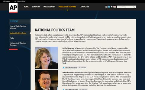 Screenshot of Team Page ap.org - National Politics Team - captured Nov. 12, 2015