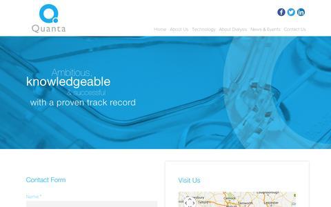 Screenshot of Contact Page quantafs.com - Quanta Contact US - captured Sept. 11, 2014