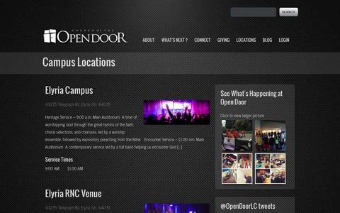Screenshot of Locations Page opendoor.tv - Locations - Open DoorOpen Door - captured Oct. 2, 2014