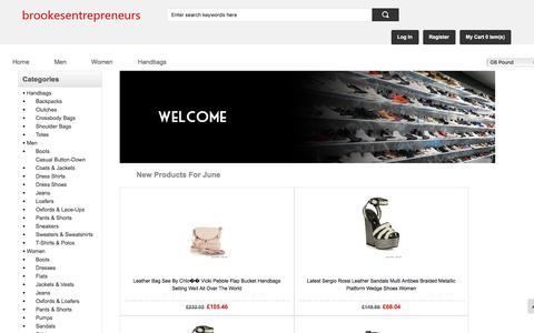 Screenshot of Home Page brookesentrepreneurs.co.uk - Men's/Women's shoes,clothing,handbags sale online    brookesentrepreneurs.co.uk - captured June 2, 2017