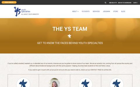 Screenshot of Team Page youthspecialties.com - The YS Team | Youth Specialties - captured Nov. 23, 2015