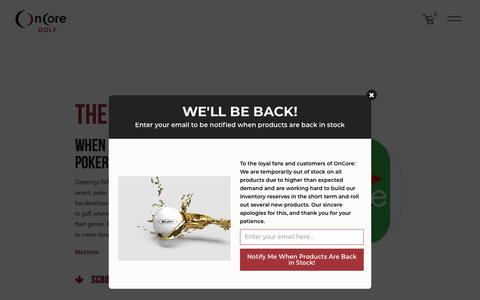 Screenshot of Press Page oncoregolf.com - Articles – OnCore Golf - captured Sept. 12, 2018