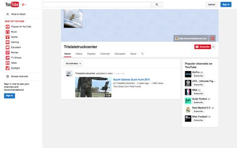 Screenshot of YouTube Page youtube.com - Tristatetruckcenter  - YouTube - captured Nov. 5, 2014