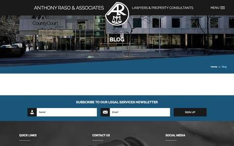 Screenshot of Blog alr.com.au - Blog - Anthony Raso & Associates - captured Feb. 6, 2016