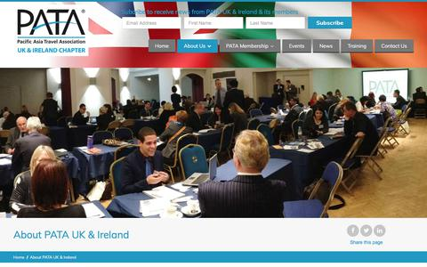 Screenshot of About Page pata.org.uk - About Us - Pacific Asia Travel Association (UK & Ireland) - captured Sept. 25, 2018