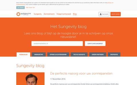 Screenshot of Blog sungevity.nl - Blog - Sungevity - captured Dec. 12, 2016