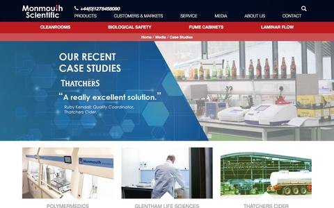 Screenshot of Case Studies Page monmouthscientific.co.uk - Case Studies | Monmouth Scientific - captured Oct. 20, 2017