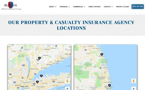 Screenshot of Locations Page gvbullen.com - Our High Net Worth Insurance Agency Locations - captured Oct. 7, 2018